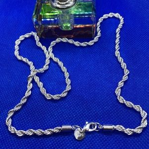 Accessories - 925 Sterling Silver Necklace, Fashion  Rope Chain